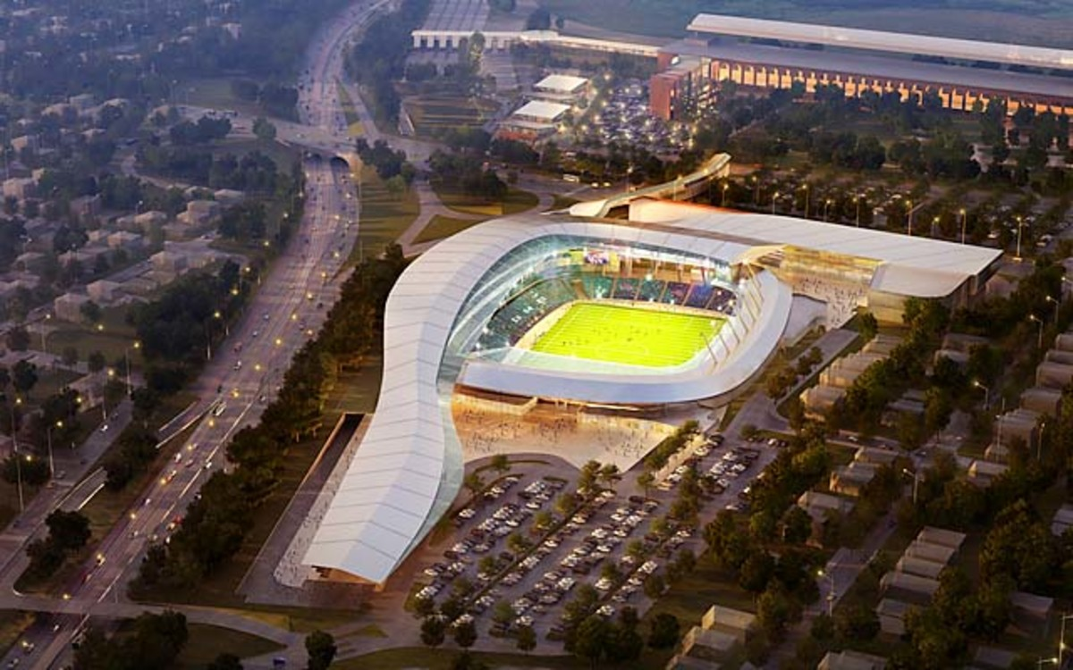 A rendering of the New York Cosmos' proposed $400 million stadium.