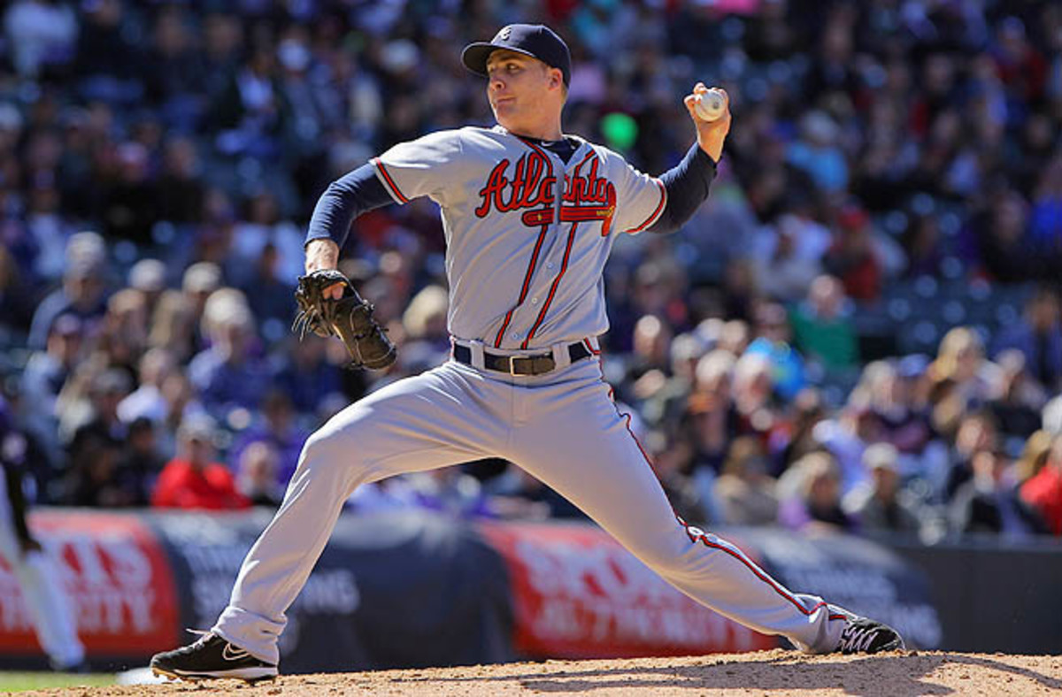 Lefty Eric O'Flaherty, in his fifth season with the Atlanta Braves, is 3-0 with a 2.50 ERA in 19 games.