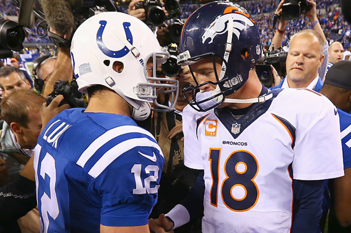 In this battle of the Colts' past and present, Andrew Luck came out on top to spoil Manning's return.