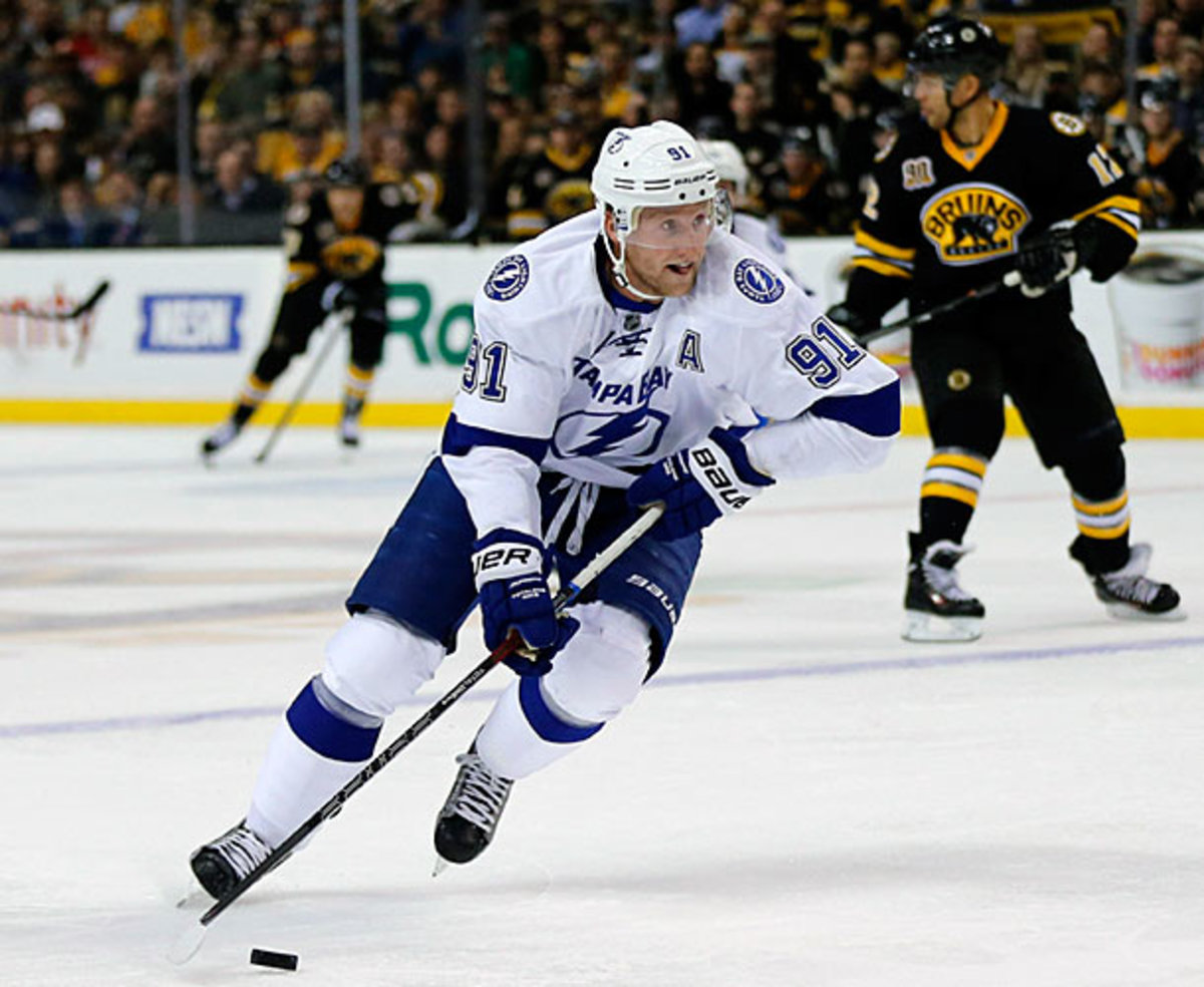 Steven Stamkos of the Tampa Bay Lightning
