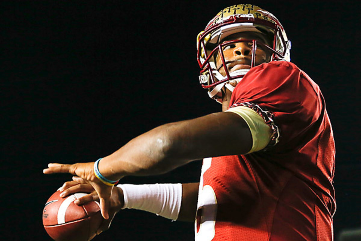 Jameis Winston and the Seminoles sit at No. 2 in the BCS rankings, but will their easy schedule hurt them? (Don Juan Moore/Getty Images)