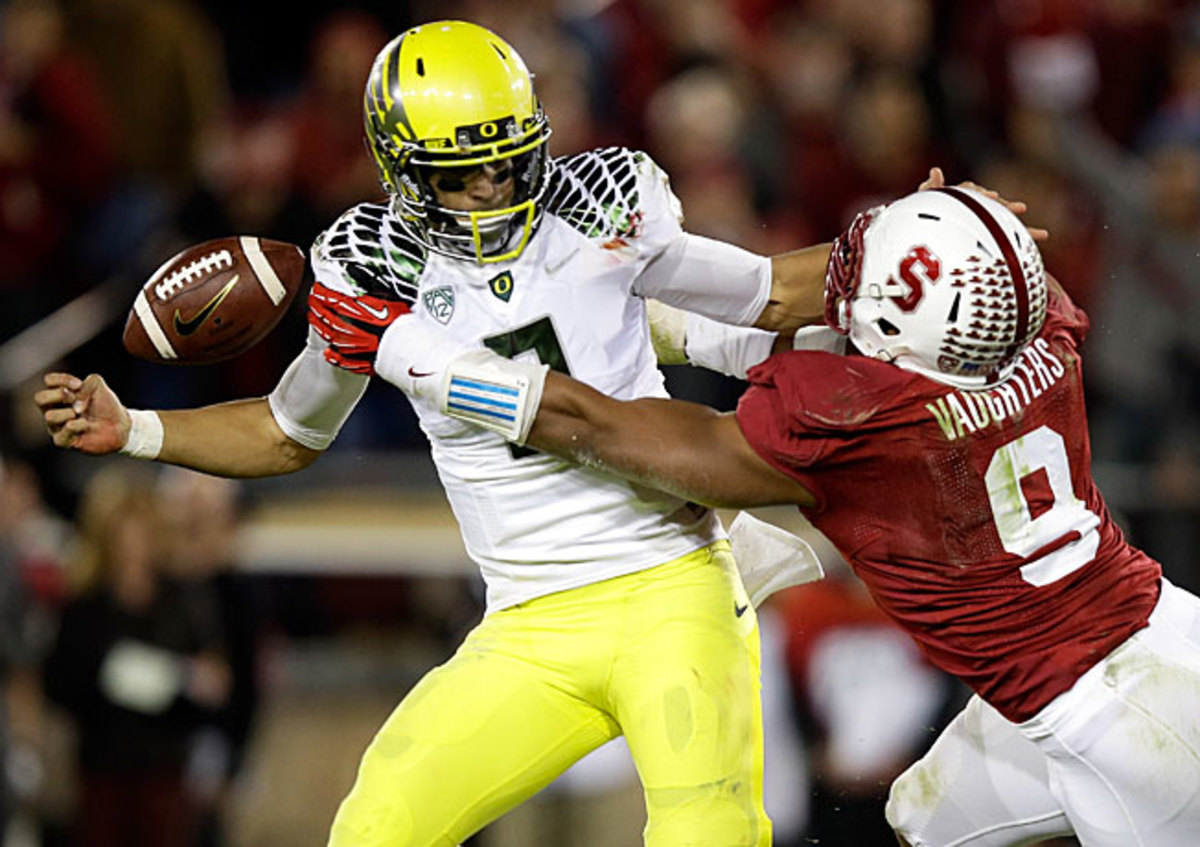 Marcus Mariota and Oregon's BCS title hopes were likely dashed in a 26-20 to Stanford last Thursday.