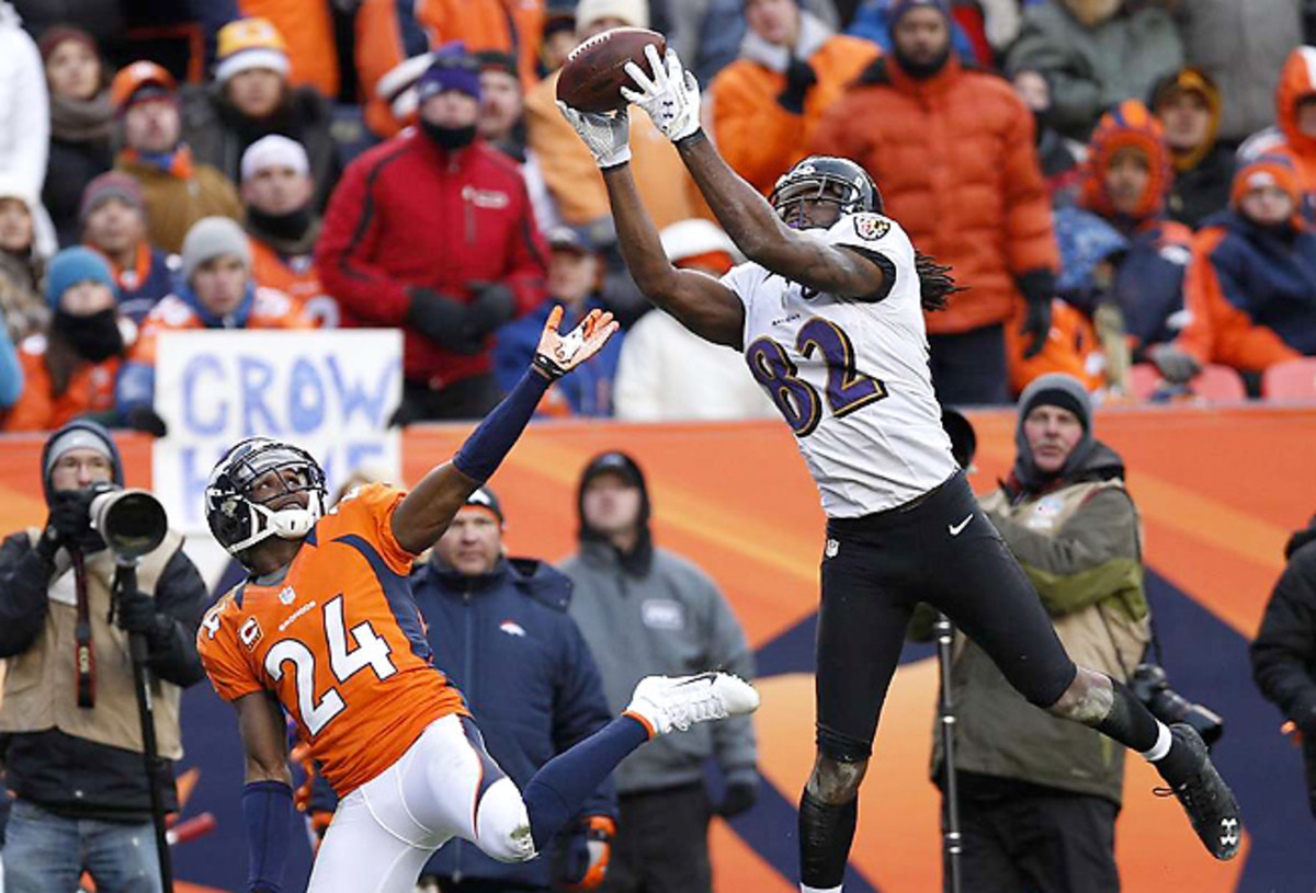 Torrey Smith began to really open eyes with his dismantling of Champ Bailey in the playoffs last season.
