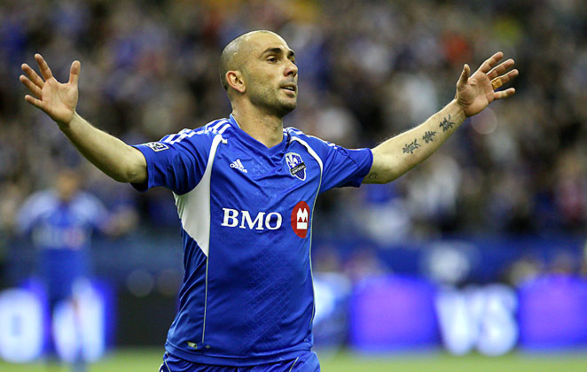 Marco Di Vaio celebrates his goal against the New York Red Bulls on Saturday afternoon.