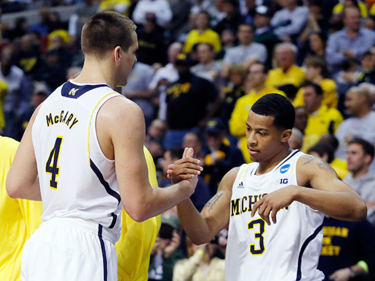 Michigan freshman Mitch McGrady's screen proved devastating to VCU's Havoc defense. (Duane Burleson/AP)