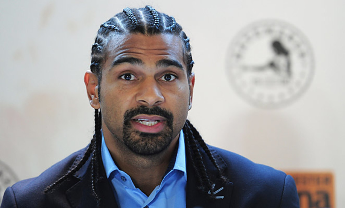 David Haye suffered a deep cut over his left eyebrow while training for his fight against Tyson Fury.