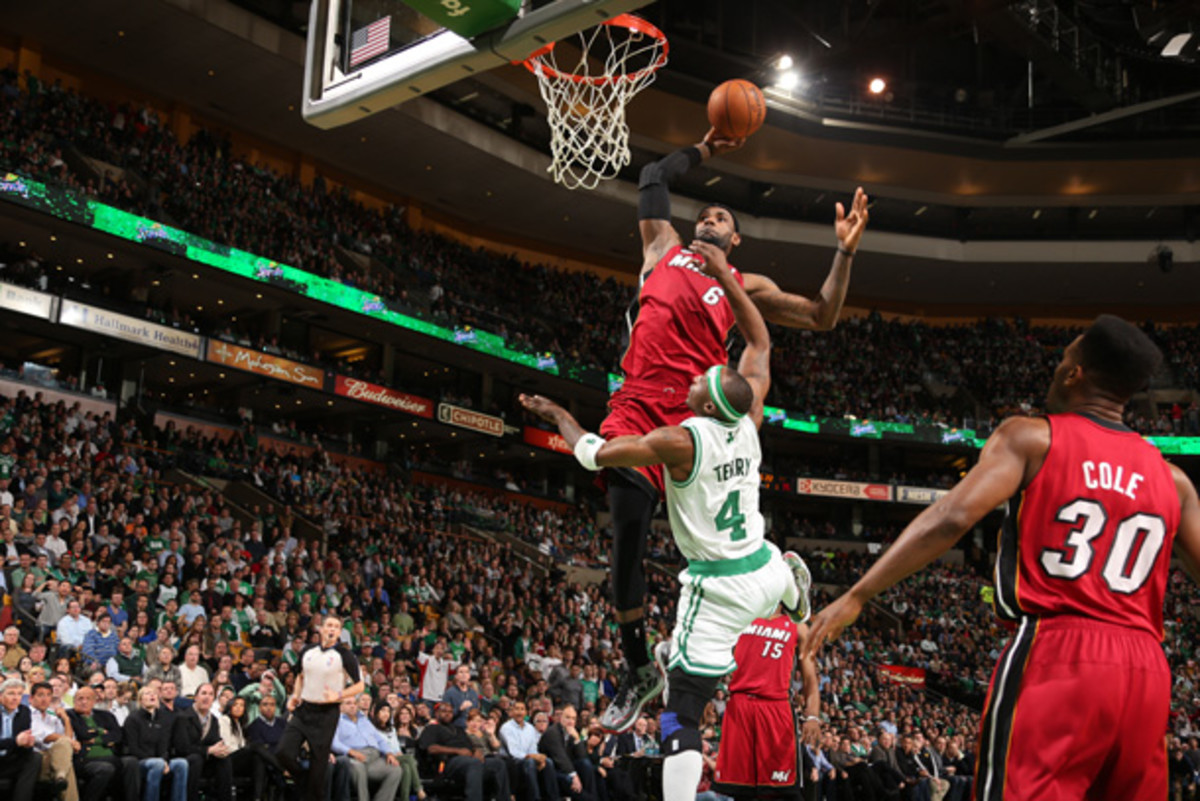 LeBron James has led the Heat to 23 straight wins. (Nathaniel S. Butler/Getty Images)