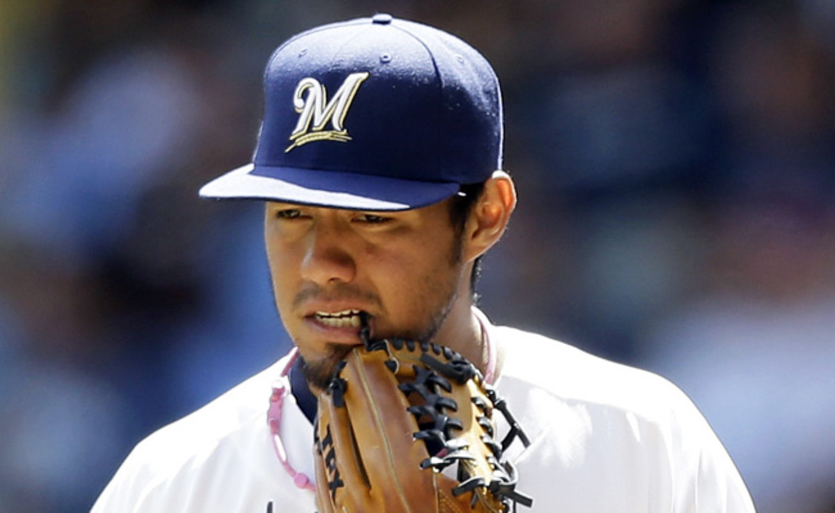 After going 16-9 last season with the Brewers, Yovani Gallardo is 8-9 this year.