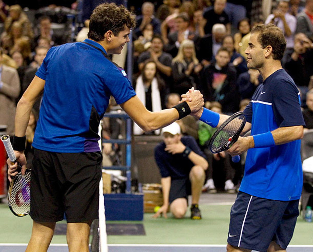 Milos Raonic and Pete Sampras