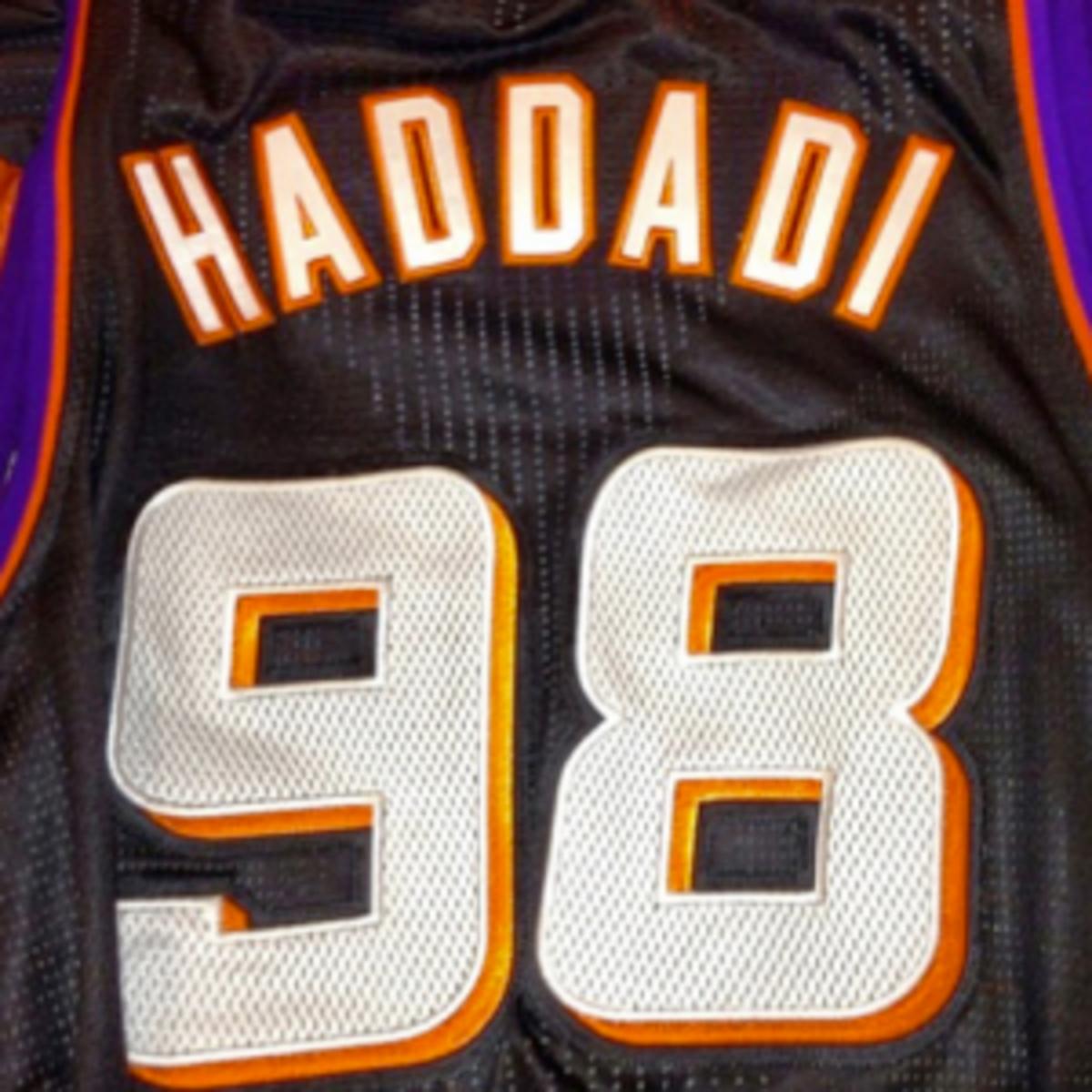 Hamed Haddadi's number is a tribute to his native Iran. (Instagram/Arash Markazi)