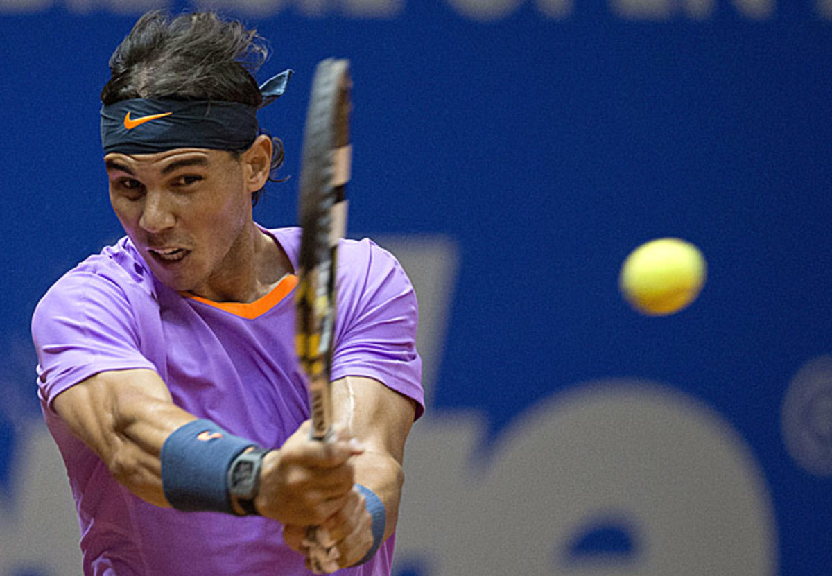 Rafael Nadal beat Joao Souza 6-3, 6-4 on Thursday to reach the quarterfinals of the Brazil Open.
