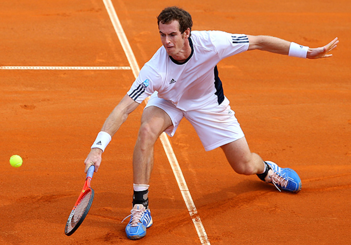 Andy Murray faced off against Croatia's Borna Coric in their World Group Playoff tie. (Julian Finney/Getty Images)