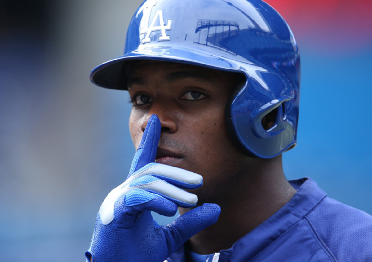 Cuban-born Dodgers OF Yasiel Puig had to move to Mexico before coming to the United States.