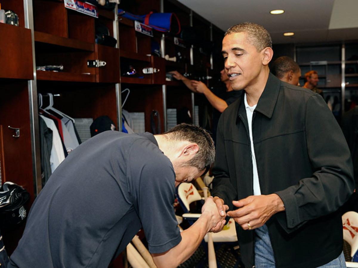 Ichiro Suzuki and President Barack Obama