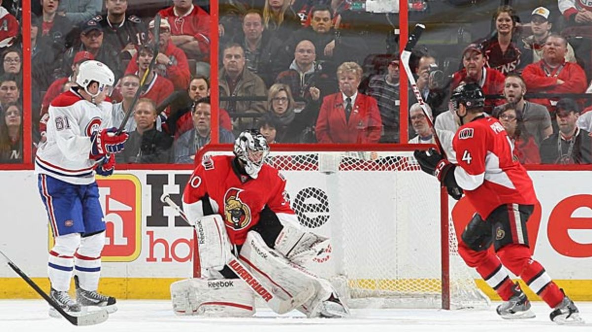 Ben Bishop has taken over in goal and starred for the Ottawa Senators.