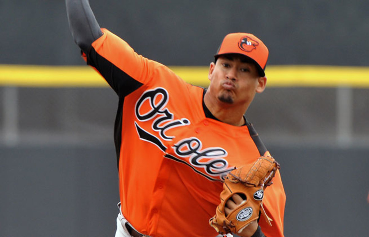Baltimore purchased the contract of Jair Jurrjens from Triple-A Norfolk. He will start against the Tampa Bay Rays.