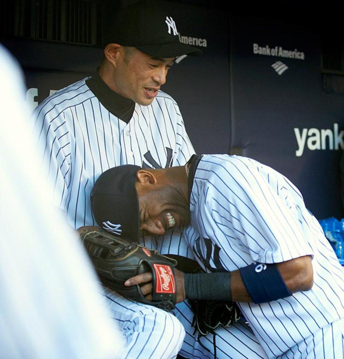 Ichiro Suzuki and Eduardo Nunez