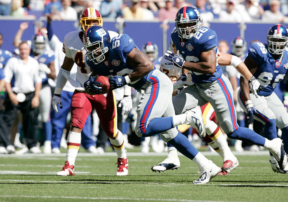 Former linebacker Barrett Green (52) says he was targeted by the Redskins during a game in 2004.