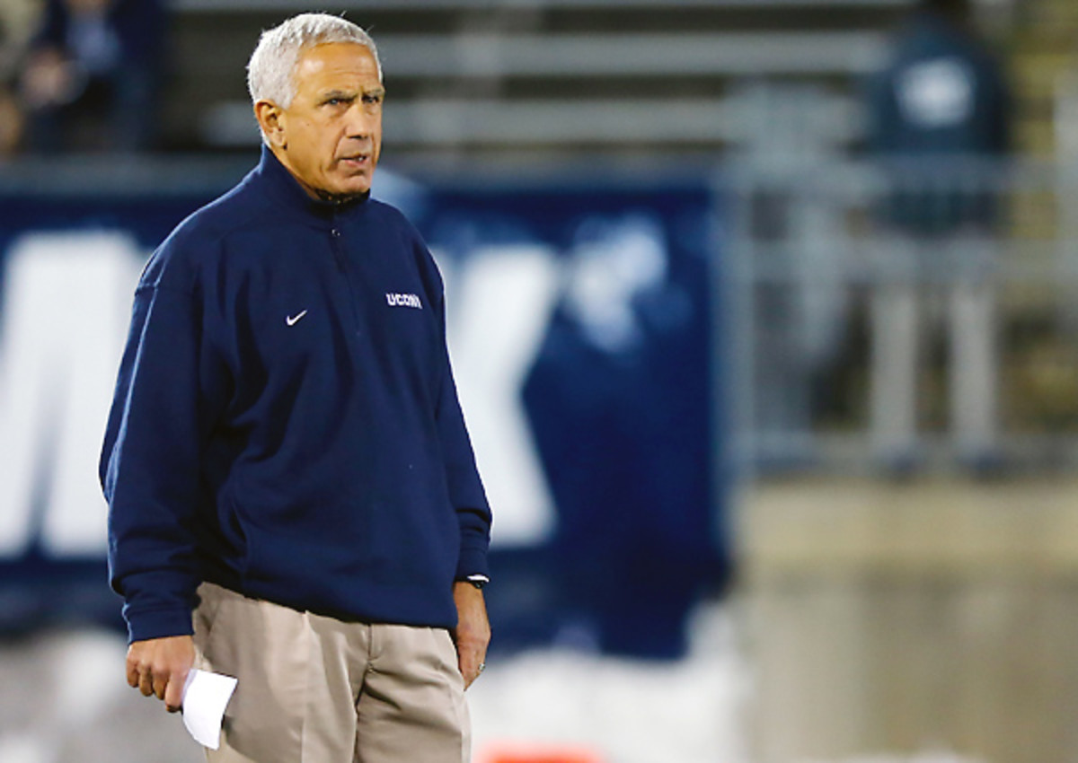 Paul Pasqualoni joined Lane Kiffin on the unemployment line after UConn fired him Monday.