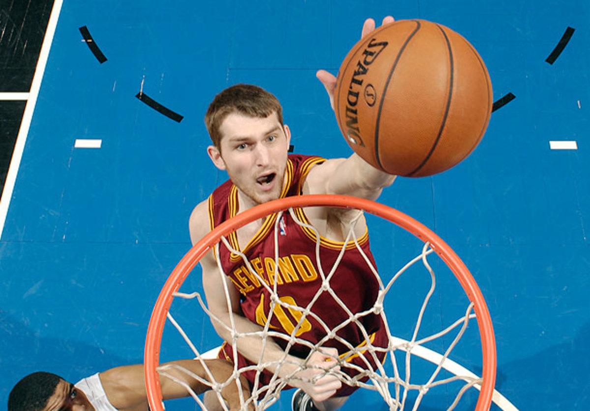 Tyler Zeller goes for a rebound