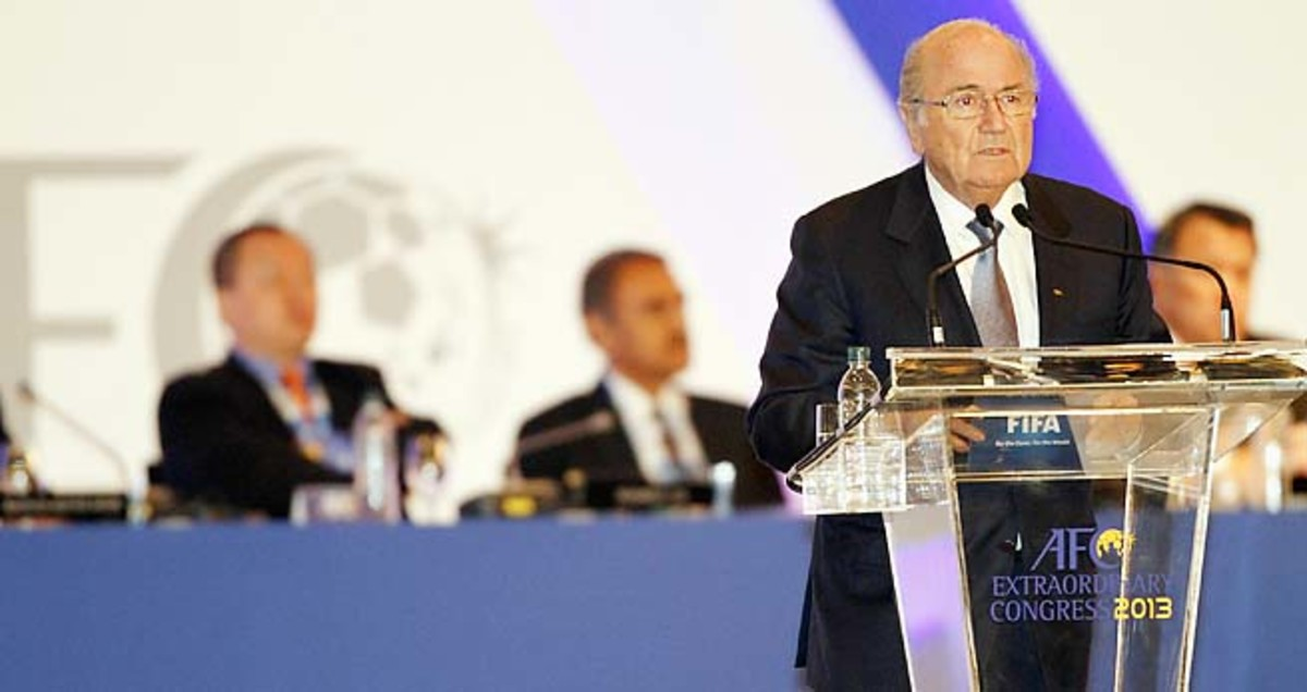 Sepp Blatter has been FIFA president since 1998.