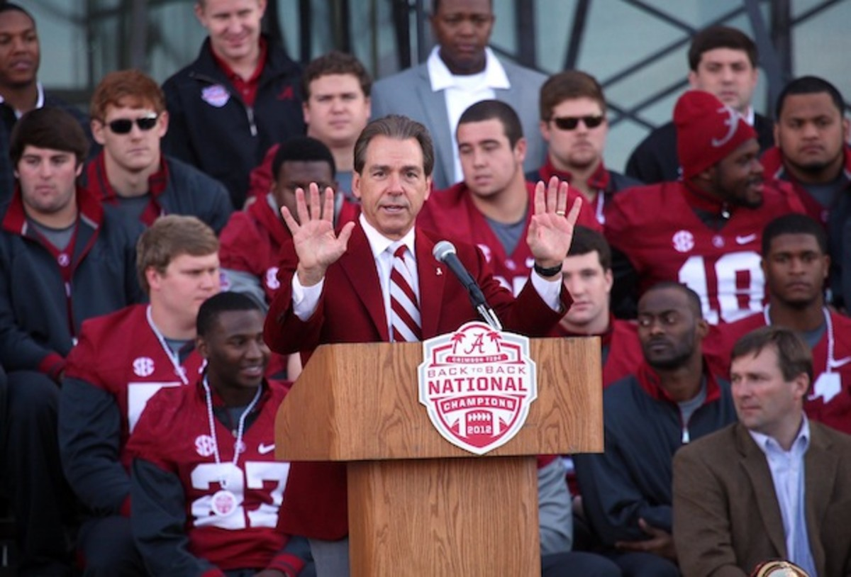 Nick Saban will have this many five-star running backs on scholarship by the time 'Bama plays Wisconsin. (AP)