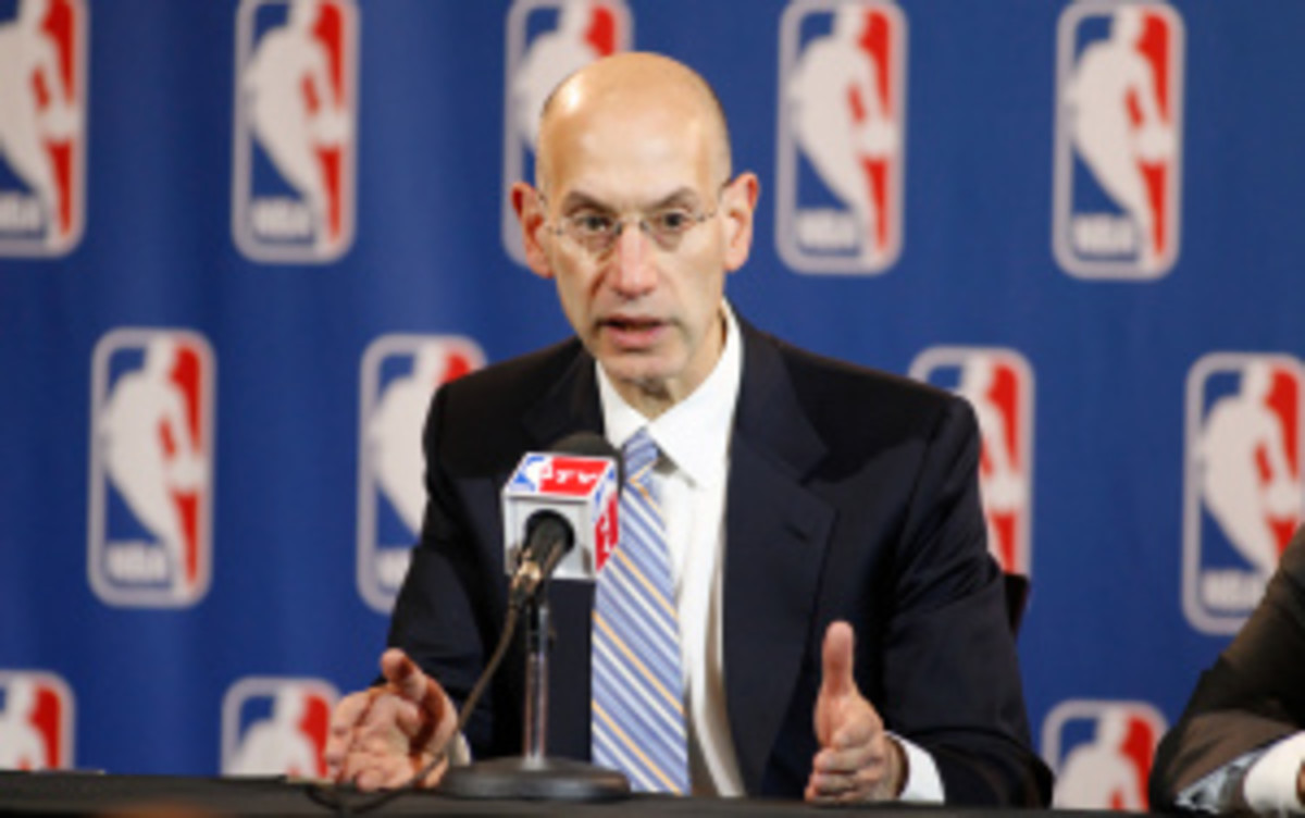 Incoming NBA commissioner Adam Silver said the league is focused on adding HGH blood tests, but denied any possible link between NBA players and Biogenesis. (Glenn James/Getty Images)