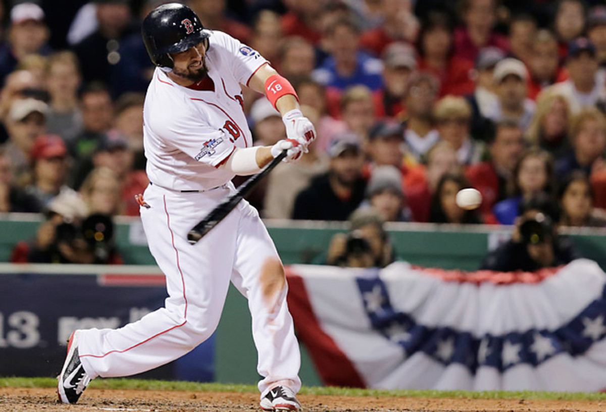 Shane Victorino's seventh-inning grand slam propelled Boston to its third World Series in 10 years.