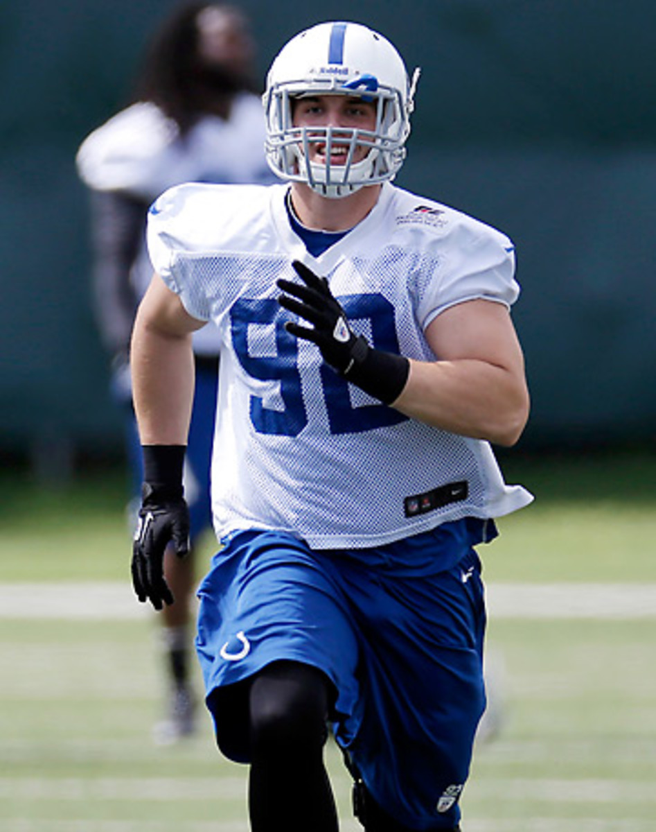 Bjoern Werner wasn't known as a standout pass rusher at Florida State, but the Colts are counting on him. (Darron Cummings/AP)