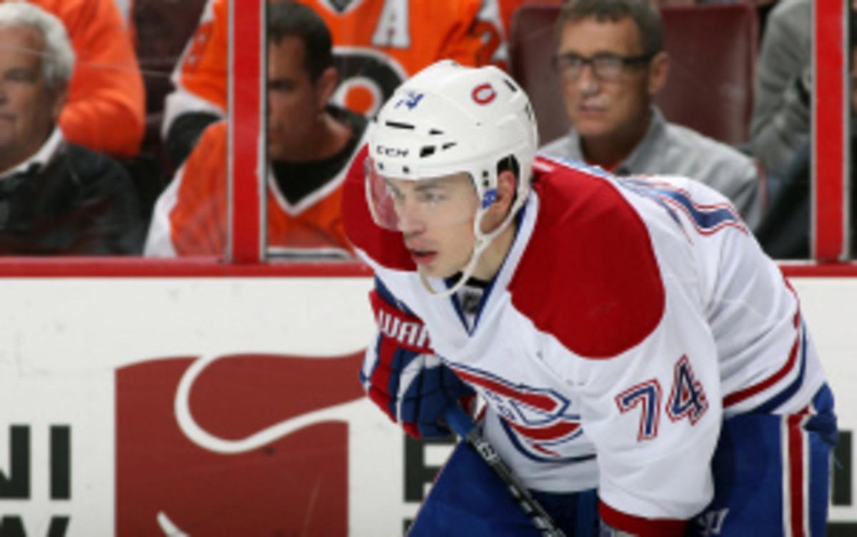 "Canadiens defenseman Alexei Emelin said he's ""confident"" he'll return soon from offseason knee surgery. (Len Redkoles/Getty Images)"