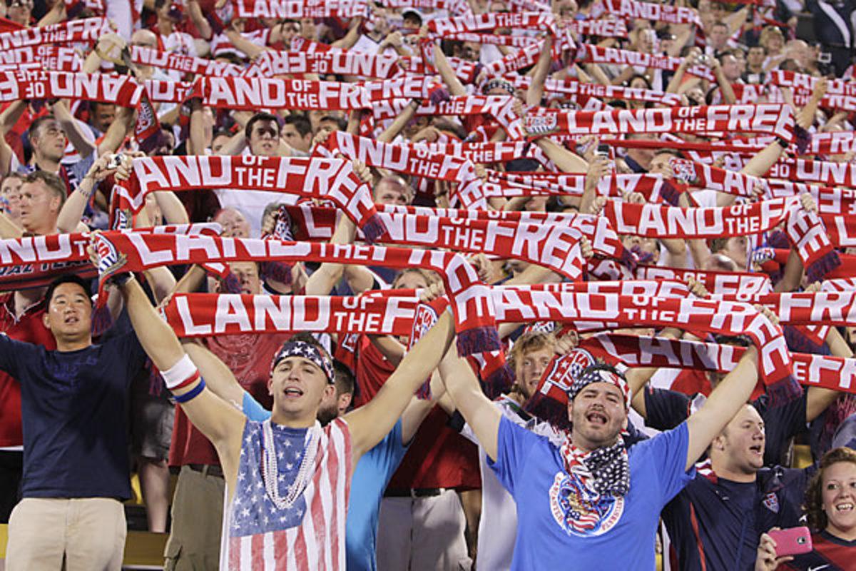 USA vs. Mexico fans