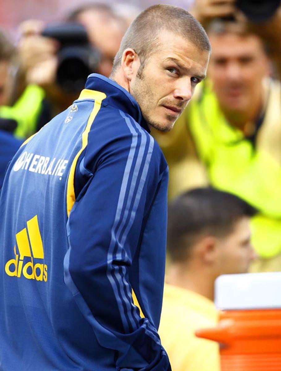 LA Galaxy sign David Beckham