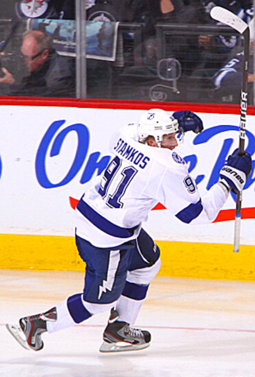 Stamkos (above) led the NHL in 2011-2012 with 60 goals.