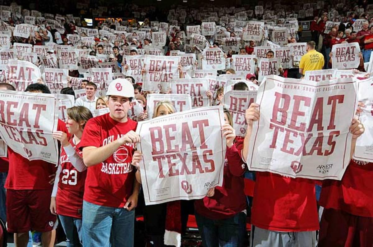 Texas at Oklahoma, Jan. 12