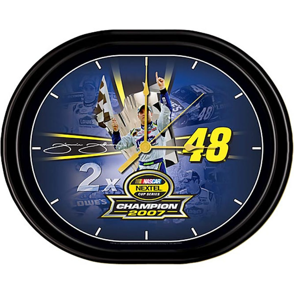 Jimmie Johnson '07 Back to Back Champion JEBCO Clock