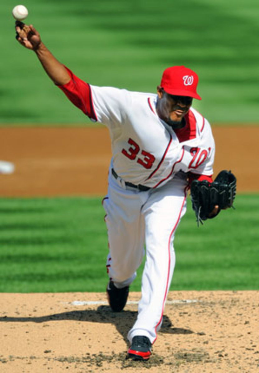 Edwin Jackson has pitched for seven teams in his first 10 major league seasons. (Mark Goldman/Icon SMI)