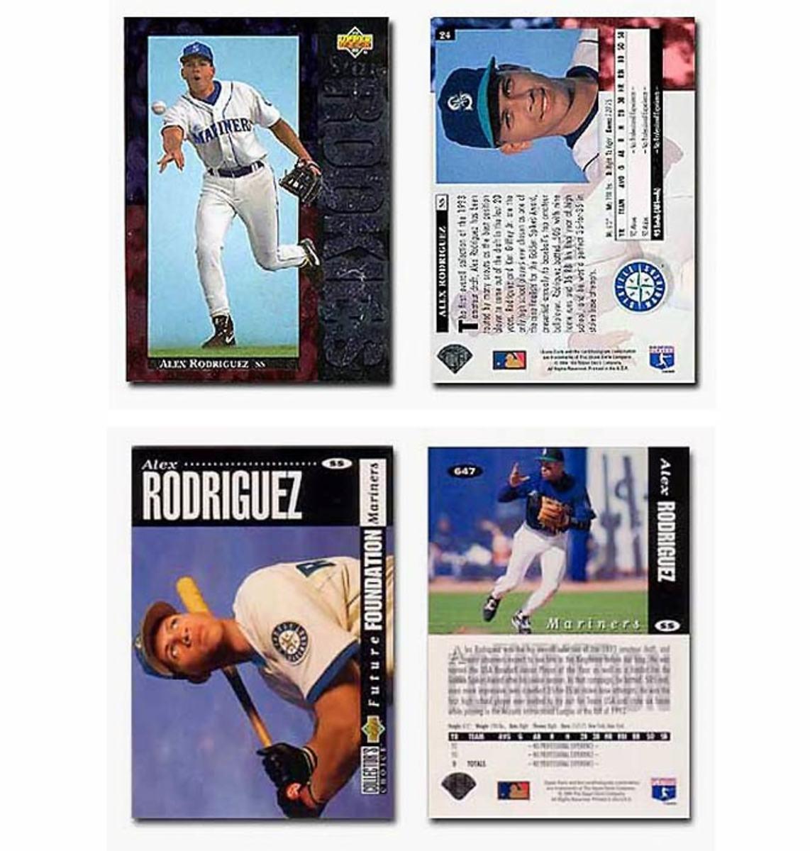 (Top) 1994 Upper Deck Alex Rodriguez Rookie Card #24