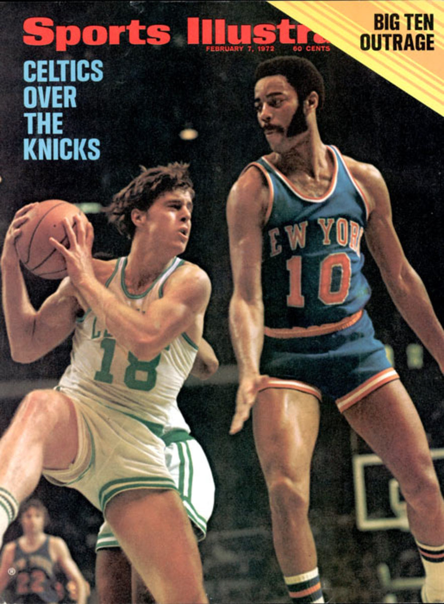 Dave Cowens and Clyde Frazier