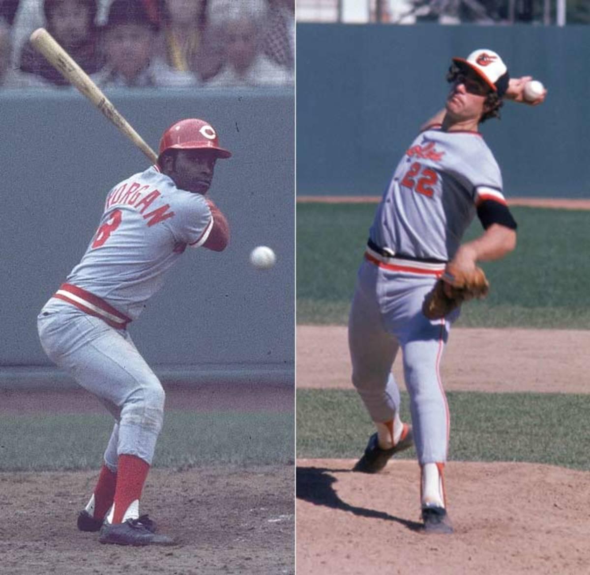 Jim Palmer and Joe Morgan