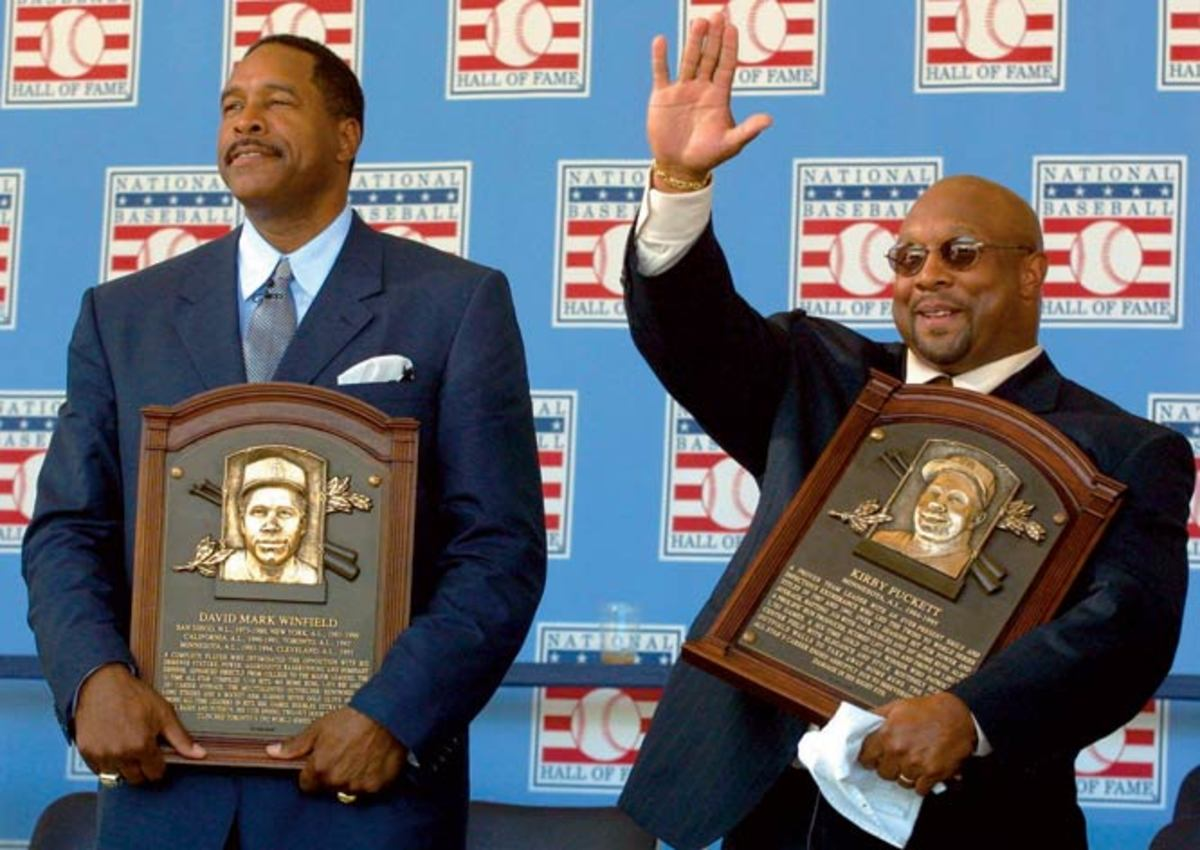 Kirby Puckett and Dave Winfield