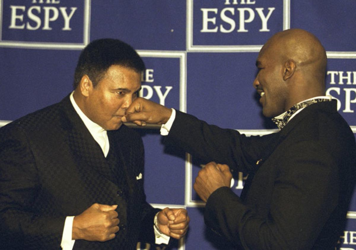 Muhammad Ali and Evander Holyfield