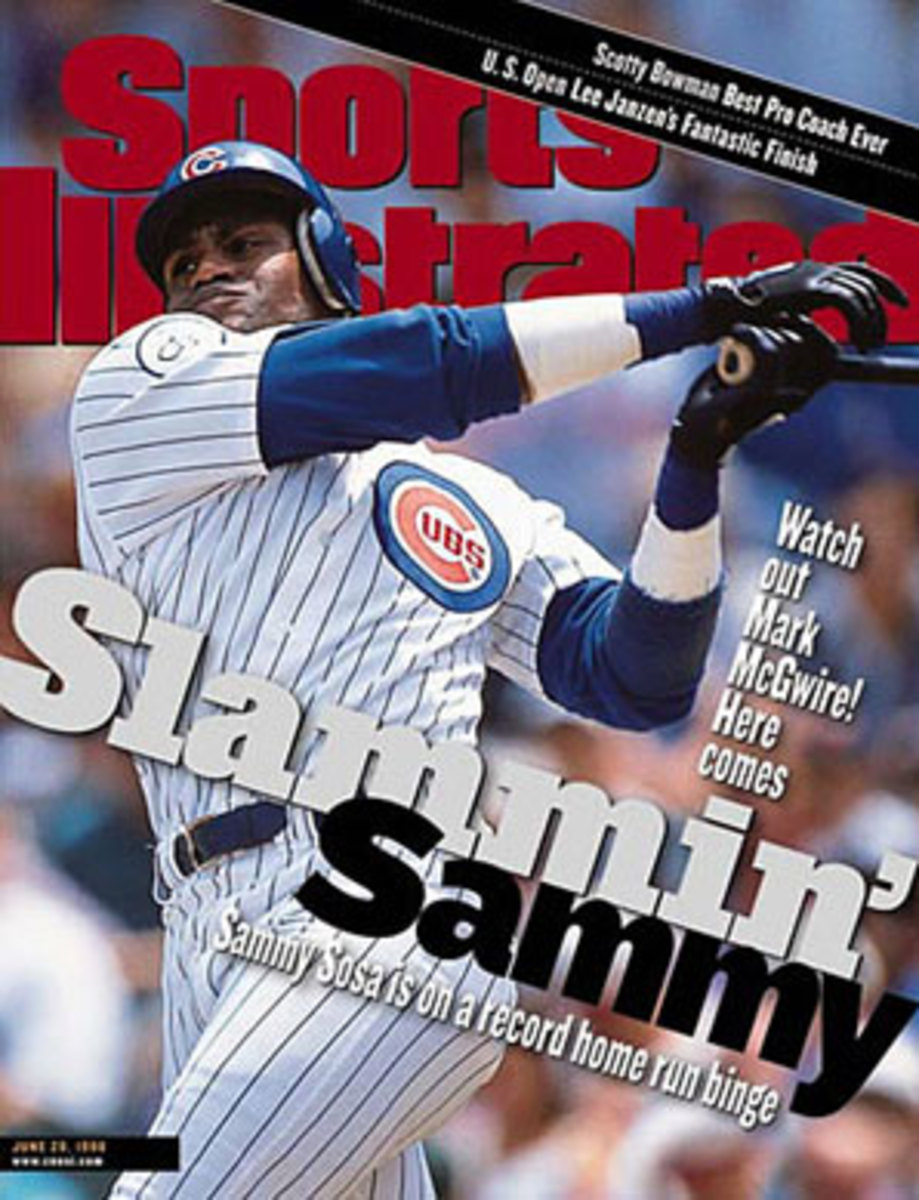 Sammy Sosa's unforgettable 1998 season is now memorable for a different reason. (John Biever/SI)