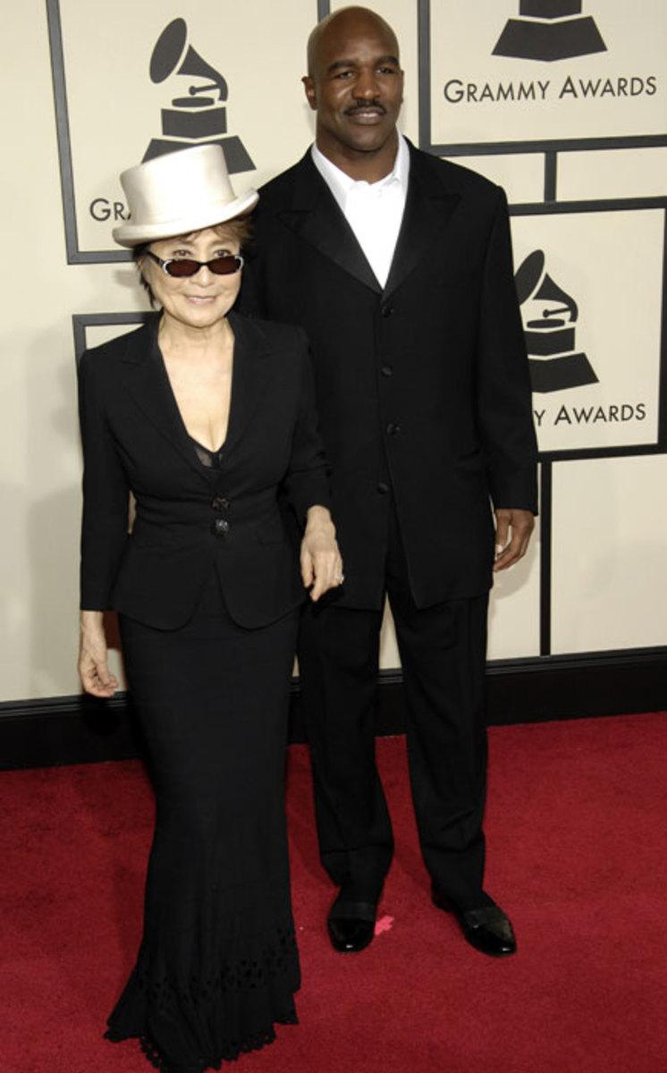 Yoko Ono and Evander Holyfield