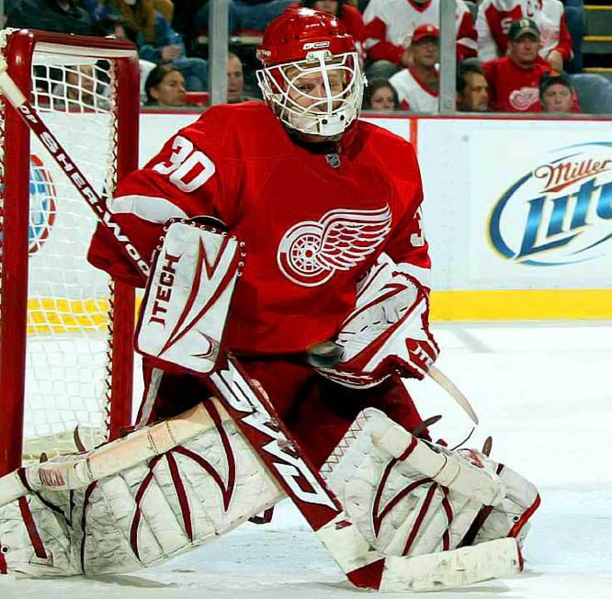 Chris Osgood, goaltender, Detroit Red Wings