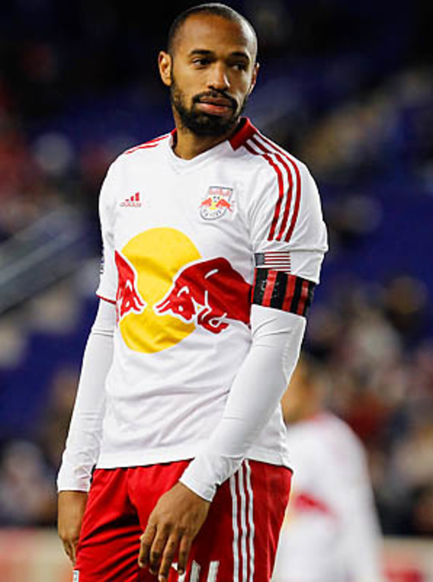 Thierry Henry was fifth in MLS with 15 goals last season.