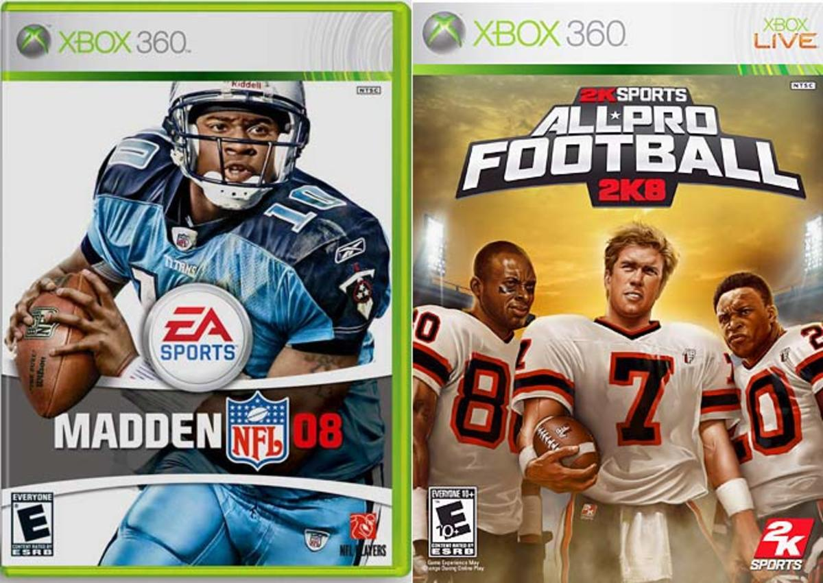 Madden 08 (EA) & All-Pro Football 2K8 (2K Sports)