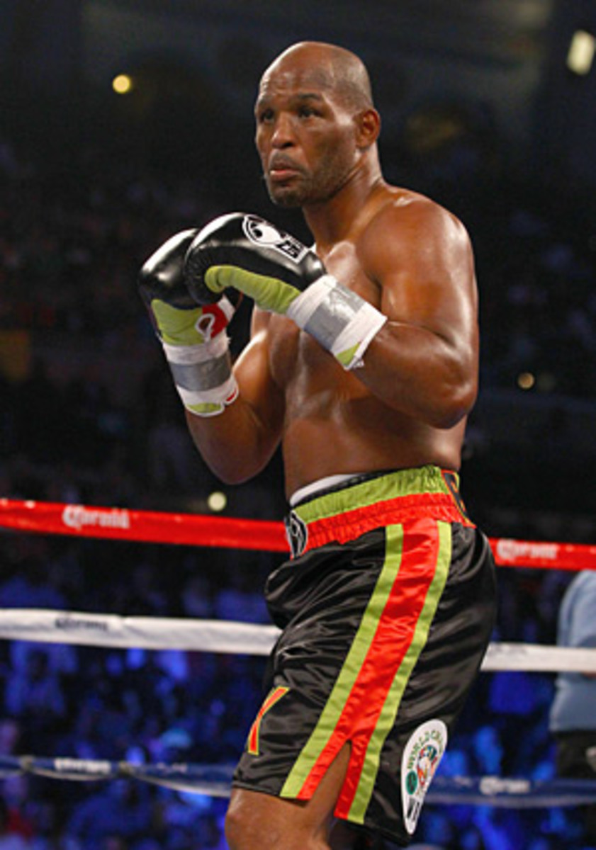 Bernard Hopkins (above) could return to action in March in an attempt to break his record as the oldest boxer to win a major world title. (Al Bello/Getty Images)