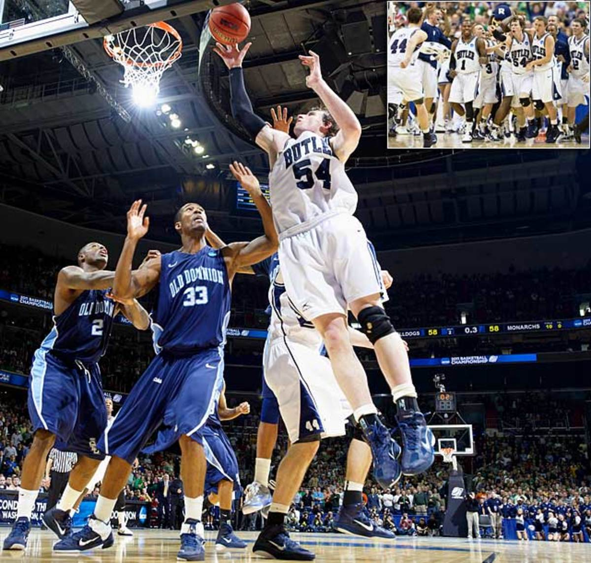 (8) Butler 60,<br> (9) Old Dominion 58