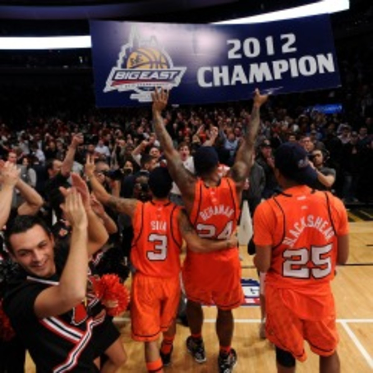 The Big East Conference basketball tournament in New York City could be in jeopardy. (Michael Heiman/Getty Images)