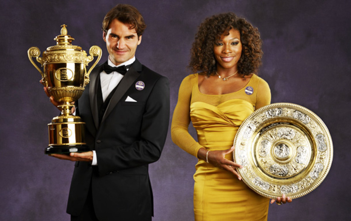 Roger Federer, Serena Williams Wimbledon 2012